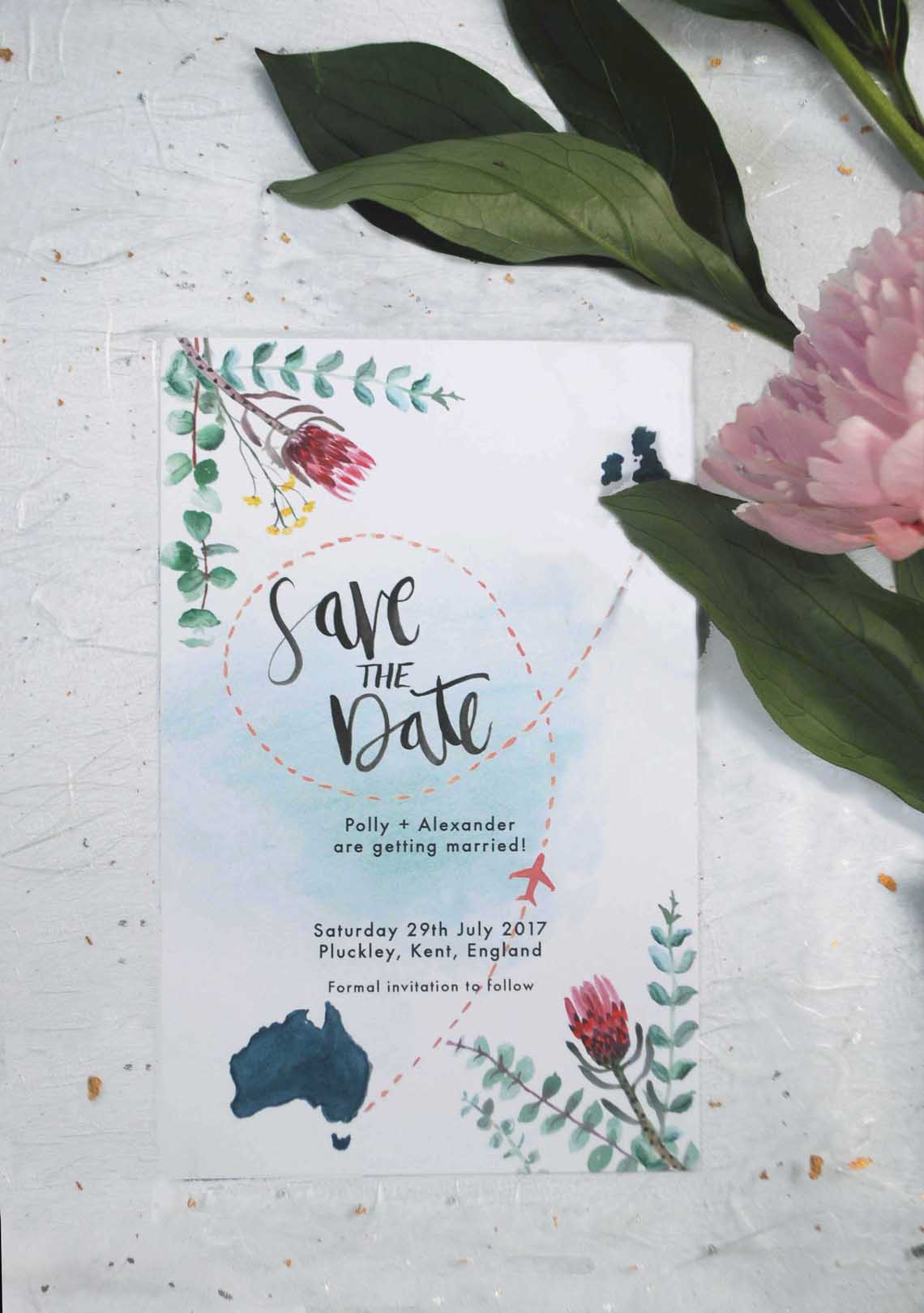 Polly Rowan - Watercolour Wedding Invitations
