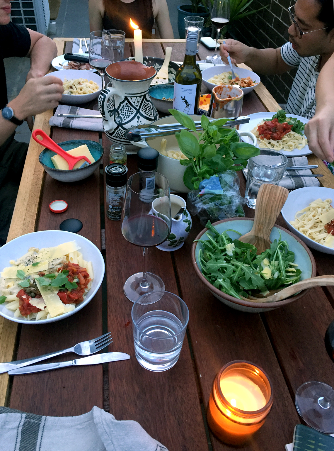 Polly Rowan blog - Alfresco Italian Dinner